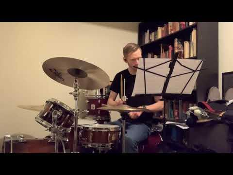 Sean Playing Drumset