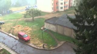 Дождик в Могилёве на 30 лет Победы