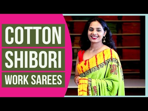 "<p style=""color: red"">Video : </p>New Pure Cotton Shibori Work Sarees 