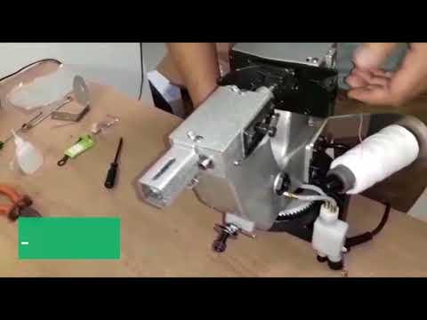 Maquina para costurar sacos tutorial