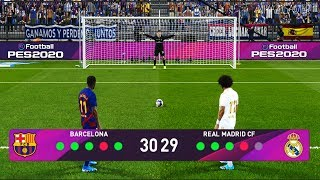 PES 2020   Longest Penalty Shootout Ever   Barcelona vs Real Madrid   El Clasico Gameplay PC