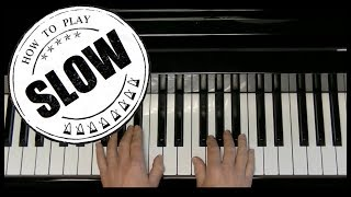 On Our Way - Christina Aguilera - How to play - Intro - slow
