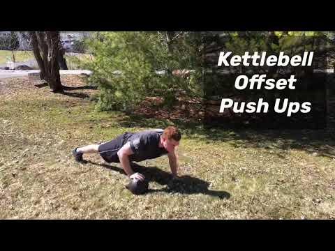 Kettlebell Offset Push Ups