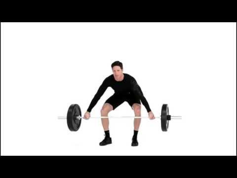 Wide Grip Barbell Deadlift Exercise