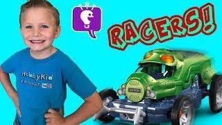 Cricket Car Racing! HobbyPig vs HobbyFrog