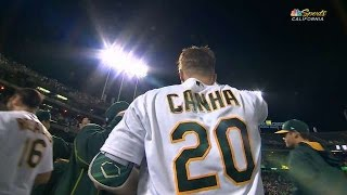 Abraca-Canha! A's stun RedSox with extra inning magic