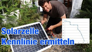 Photovoltaik Kennlinie ermitteln MPP Ermittlung PV Anlage Solarzelle Solarpanel