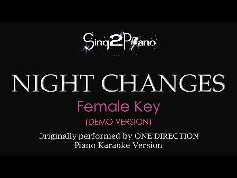 Download Night Changes Female Key Piano Karaoke Demo One