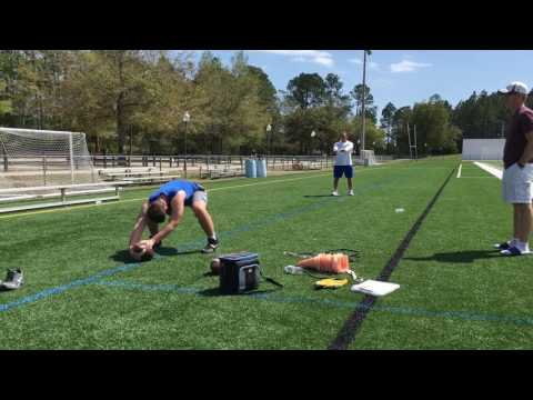 Chace Stanaback Football Training