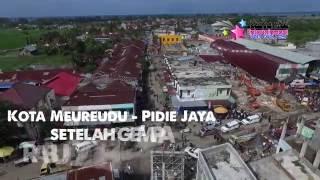 Gempa Aceh  Pidie Jaya 7 Desember 2016 HD  Video Udara  Aerial View