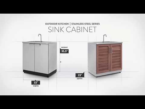 NewAge Stainless Steel Sink Cabinet