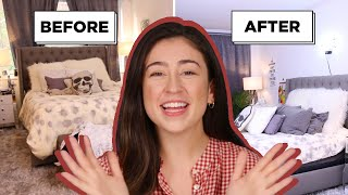 How I Gave My Friends Bedroom A Complete Makeover For Zero Dollars Part 1