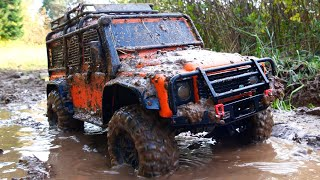 1/10 Scale RC : Custom Car land rover defender Off Road Mud and Water