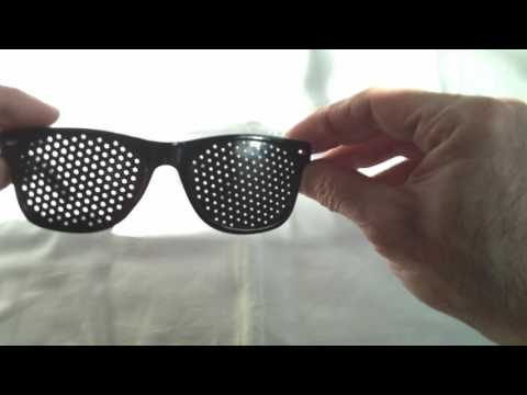 Contro affaticamento della vista visione migliorare fori stenopeico occhiali da sole per la cura degli occhi