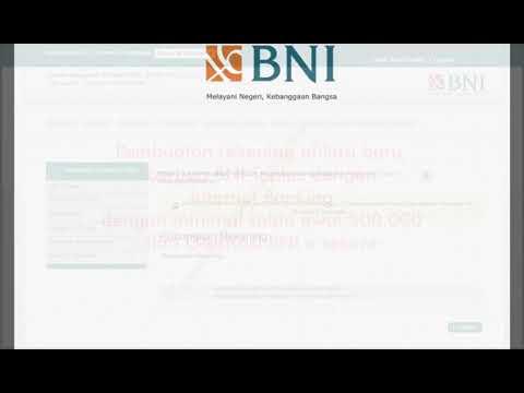 Pembukaan rekening di Internet Banking BNI