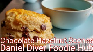 Chocolate Chip Hazelnut Buttermilk Scones