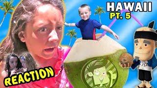 COCONUT WATER REACTION! Fruit Ninja Action (FUNnel Vision Maui Trip Part 5)