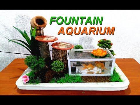 How to make a small Aquarium Fountain very easy / DIY