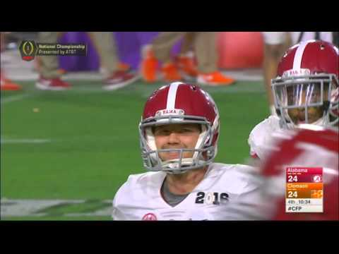 Alabama's onside kick against Clemson.