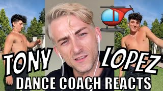 DANCE COACH REACTS TO TONY LOPEZ!