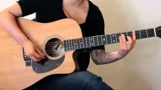 How to play Napoleon by Ani DiFranco on guitar - Jen Trani