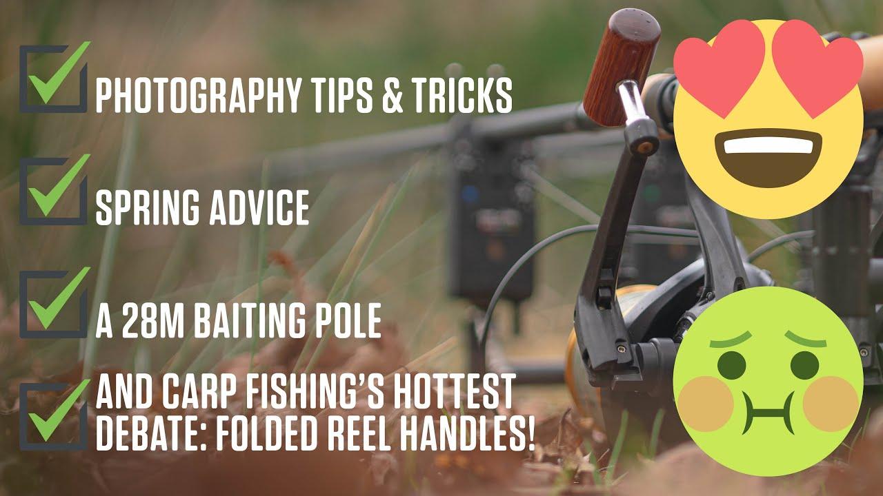 Carp fishing photography, folded reel handles and a 28m baiting pole | Luke Venus Vlog 4