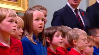 Children's choir leads new PM and cabinet in singing of 'O Canada'