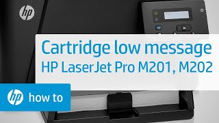 Checking Toner Levels - HP LaserJet Pro MFP M201 and M202