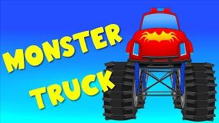 Monster Truck | Cars cartoon | Construction game | Educational video | Tralala TV
