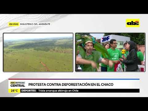 Protesta contra deforestación en el chaco