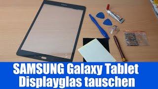 Display Glas zerbrochen - Samsung Tablet SM-T555 Austausch Digitizer Change / Repair