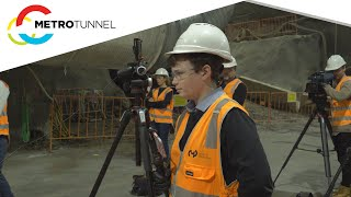 Behind the scenes at a Metro Tunnel presser with 6 News