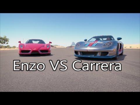 Runway Showdown Ferrari Enzo Vs Porsche Cgt
