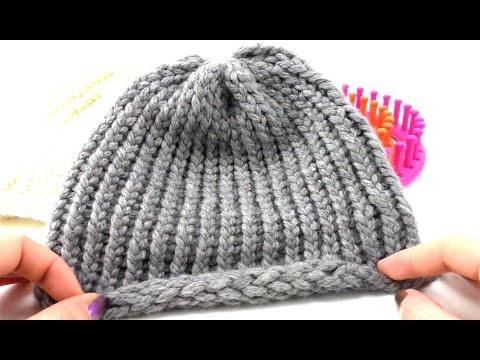 Knitting Loom Mütze Stricken | Stricken für Anfänger | Rundstricken Wintermütze