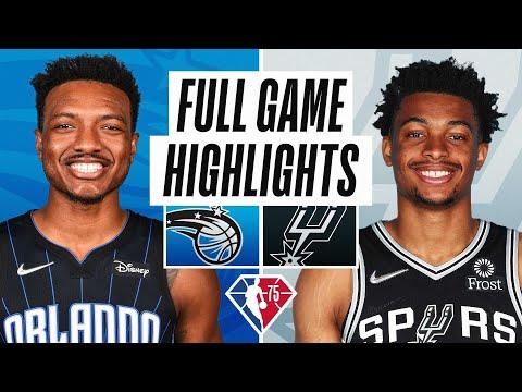 San Antonio Spurs vs Orlando Magic</a> 2021-10-21