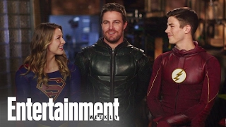 CW Superheroes Crossover: Behind The Scenes   Cover Shoot   Entertainment Weekly