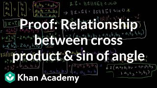 Proof: Relationship between cross product and sin of angle