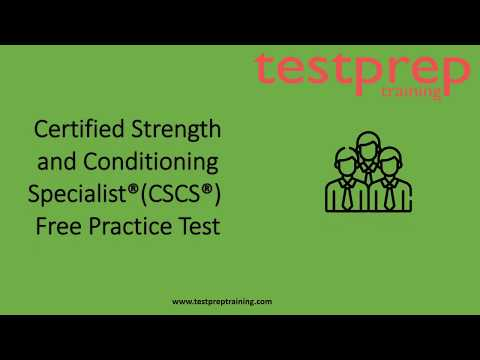 Certified Strength and Conditioning Specialist Free Practice Test ...