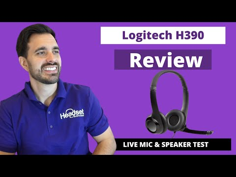 Logitech H390 USB Headset Review - LIVE MIC & SPEAKER TEST!