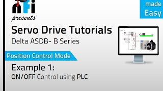 Servo Video Tutorials - Position Mode ON/OFF of Servo Motor by PLC