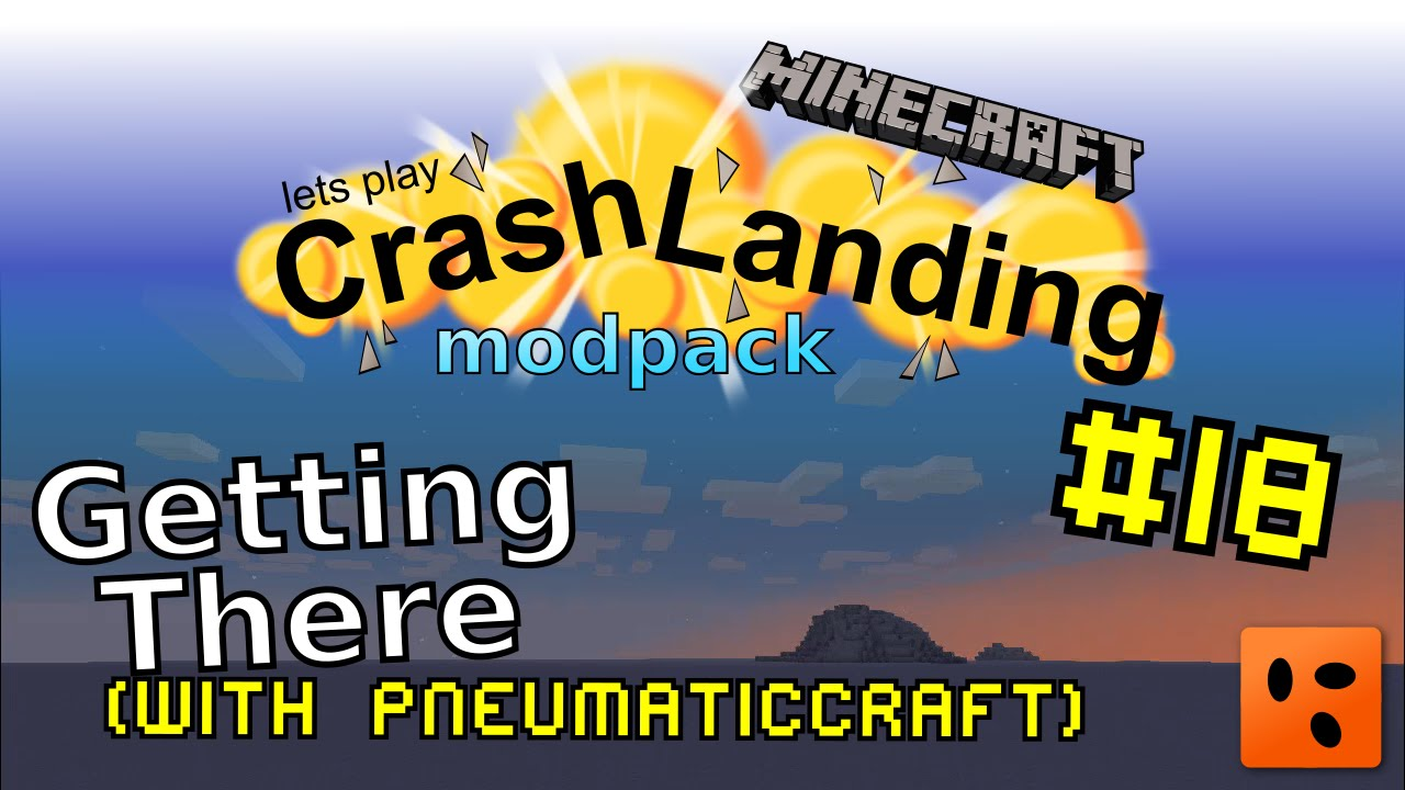 Crash Landing #18 | Getting There (with pneumaticcraft)