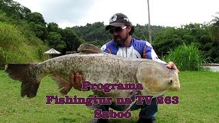 Programa Fishingtur na TV 263 - Pesqueiro Saboó