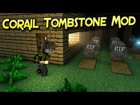 Corail Tombstone Mod | No Pierdas Tus Xp Ni tus Items | Minecraft 1.12 – 1.10.2 | Review Español