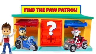 Paw Patrol Hidden in Little Bus Tayo Garage Match Colors Find Mission Pups Learn Colours