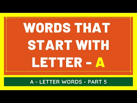 #5 NEW Words That Start With A | List of Words Beginning With A Letter [VIDEO]