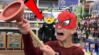 GETTING ARRESTED IN WALMART!- it's just Luke (Deleted Video)