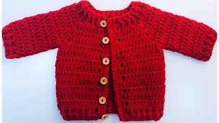 Kindness Day Newborn Baby Crochet Cardigan Sweater 0 To 3 Months For Boys And Girls #214