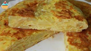 Смотреть онлайн Простой рецепт испанского омлета с картошкой Тортилья