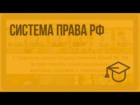 Система права РФ. Видеоурок по обществознанию 10 класс