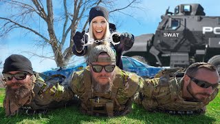 I Challenged an Actual SWAT Team to Hide and Seek!